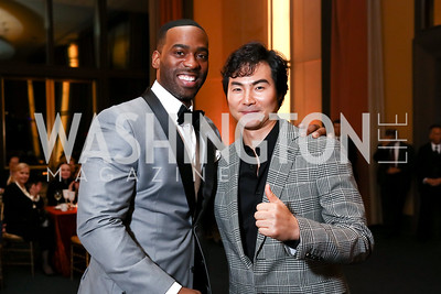 "Soloman Howard, ""Radames"" Yonghoon Lee. Photo by Tony Powell. 2017 WNO ""Aida"" Opening Night Dinner. Kennedy Center. September 10, 2017"