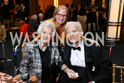 "Marjorie Billington, Susan Harper, James Billington. Photo by Tony Powell. 2017 WNO ""Aida"" Opening Night Dinner. Kennedy Center. September 10, 2017"