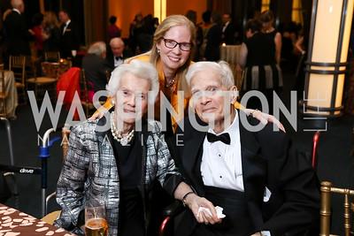 "Marjorie Billington, Susan Harper, James Billington. Photo by Tony Powell. 2017 WNO ""Aida"" Opening Night Dinner. Kennedy Center. September 10, 2017"