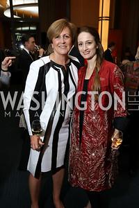"Deborah Rutter, Julie Kent. Photo by Tony Powell. 2017 WNO ""Aida"" Opening Night Dinner. Kennedy Center. September 10, 2017"