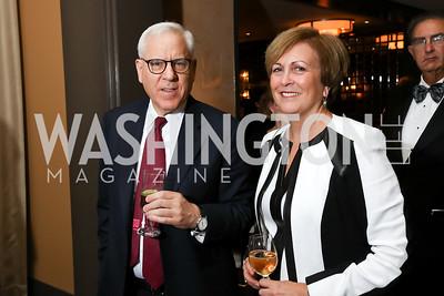"David Rubenstein, Deborah Rutter. Photo by Tony Powell. 2017 WNO ""Aida"" Opening Night Dinner. Kennedy Center. September 10, 2017"