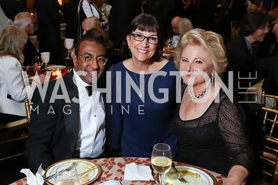 """Eric Motley, Marie Mattson, Mary Mochary. Photo by Tony Powell. 2017 WNO """"Aida"""" Opening Night Dinner. Kennedy Center. September 10, 2017"""