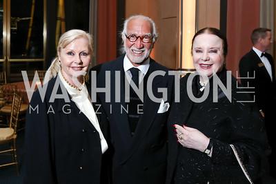 """Judy Esfandiary, AR Esfandiary, Monica Greenberg. Photo by Tony Powell. 2017 WNO """"Aida"""" Opening Night Dinner. Kennedy Center. September 10, 2017"""