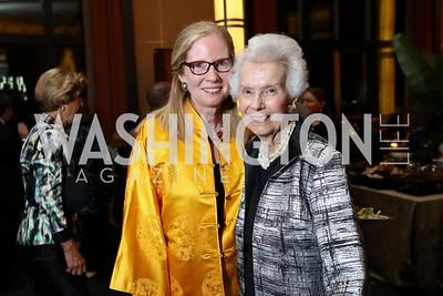 "Susan Harper, Marjorie Billington. Photo by Tony Powell. 2017 WNO ""Aida"" Opening Night Dinner. Kennedy Center. September 10, 2017"