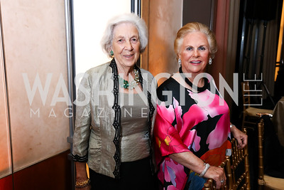 """Angie Pell, Jaqueline Badger Mars. Photo by Tony Powell. 2017 WNO """"Aida"""" Opening Night Dinner. Kennedy Center. September 10, 2017"""
