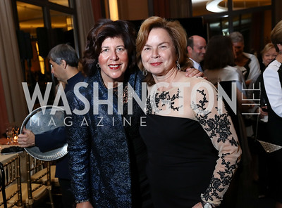 """Francesca Zambello and Faith Gay. Photo by Tony Powell. 2017 WNO """"Aida"""" Opening Night Dinner. Kennedy Center. September 10, 2017"""