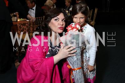 """Amneris"" Ekaterina Semenchuk, Anna Fedyashin. Photo by Tony Powell. 2017 WNO ""Aida"" Opening Night Dinner. Kennedy Center. September 10, 2017"