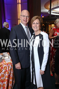 Peter Ellefson, KC President Deborah Rutter. Photo by Tony Powell. 2017 WNO Season Opener. Kennedy Center. May 6, 2017