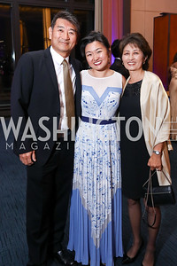 Richard Choi, Singer Kristen Choi, Jeanne Choi. Photo by Tony Powell. 2017 WNO Season Opener. Kennedy Center. May 6, 2017