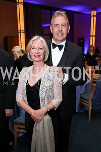 Lady Darroch and Britain Amb. Sir Kim Darroch. Photo by Tony Powell. 2017 WNO Season Opener. Kennedy Center. May 6, 2017