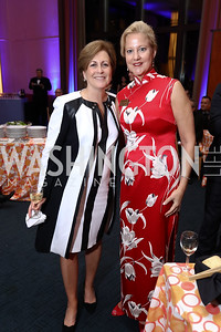 KC President Deborah Rutter, Anne Kline Pohanka. Photo by Tony Powell. 2017 WNO Season Opener. Kennedy Center. May 6, 2017