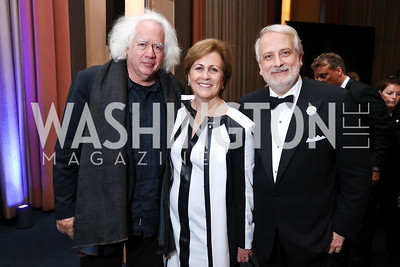 Leon Wieseltier, KC President Deborah Rutter, WNO Maestro Philippe Auguin. Photo by Tony Powell. 2017 WNO Season Opener. Kennedy Center. May 6, 2017
