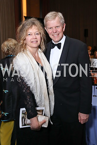 Madeleine Lyrvall and Sweden Amb. Bjorn Lyrvall. Photo by Tony Powell. 2017 WNO Season Opener. Kennedy Center. May 6, 2017