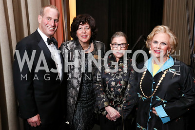 WNO Executive Director Michael Mael, Artistic Director Francesca Zambello, Justice Ruth Bader Ginsburg, Jacqueline Badger Mars. Photo by Tony Powell. 2017 WNO Season Opener. Kennedy Center. May 6, 2017