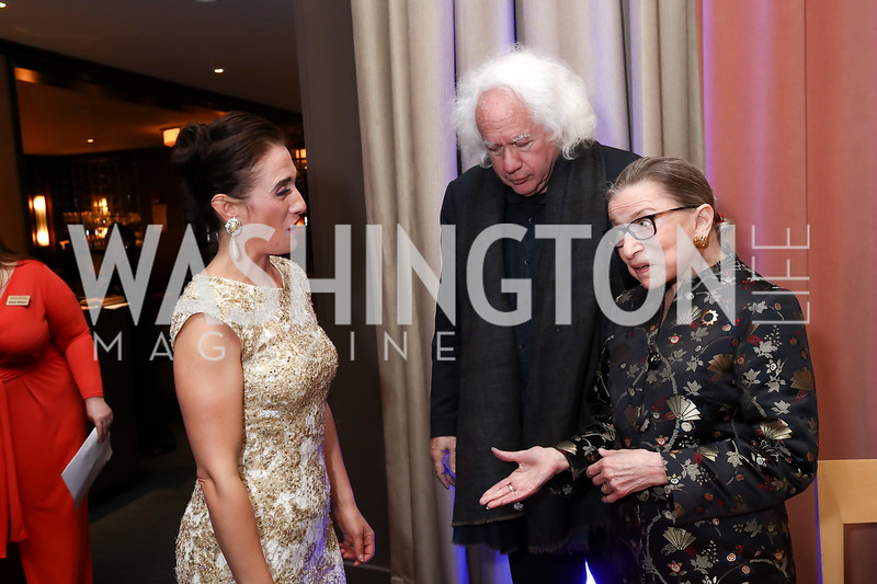 """""""Butterfly"""" Ermonela Jaho, Leon Wieseltier, Justice Ruth Bader Ginsburg. Photo by Tony Powell. 2017 WNO Season Opener. Kennedy Center. May 6, 2017"""
