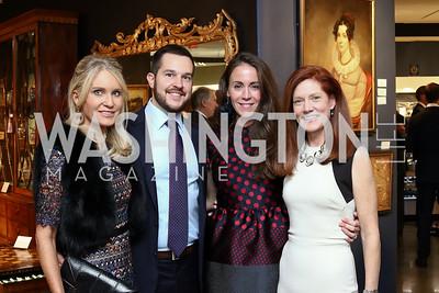 Amy Porter Stroh, John and Autumn Allen, Leslie Maysak. Photo by Tony Powell. 2017 WWS Preview Night. Katzen Center. January 12, 2017