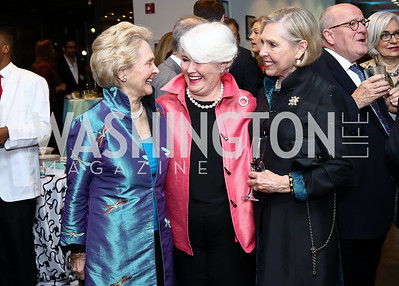 Mary Page Hickey, Palmer Graham, Anne Cobb. Photo by Tony Powell. 2017 WWS Preview Night. Katzen Center. January 12, 2017