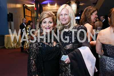 "Annie Totah, Susan Blumenthal. Photo by Tony Powell. 2017 Washington Ballet ""We Choose the Moon"" Gala. Air & Space Museum. May 12, 2017"