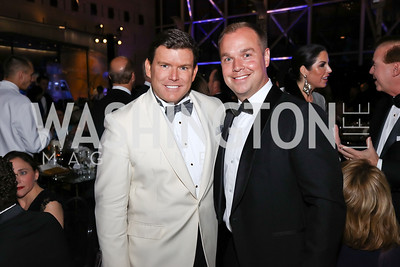 "Bret Baier, Matt Bronczek. Photo by Tony Powell. 2017 Washington Ballet ""We Choose the Moon"" Gala. Air & Space Museum. May 12, 2017"