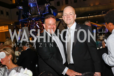 "Raul Fernandez, Robert Trone. Photo by Tony Powell. 2017 Washington Ballet ""We Choose the Moon"" Gala. Air & Space Museum. May 12, 2017"