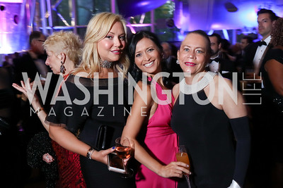 "Andrea Rinaldi, Jennifer Axmacher, Donna Limerick. Photo by Tony Powell. 2017 Washington Ballet ""We Choose the Moon"" Gala. Air & Space Museum. May 12, 2017"