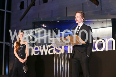 """Julie Kent, """"Frontier"""" Choreographer Ethan Stiefel. Photo by Tony Powell. 2017 Washington Ballet """"We Choose the Moon"""" Gala. Air & Space Museum. May 12, 2017"""