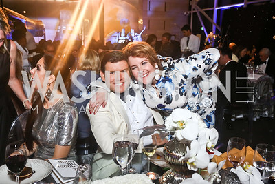 "Bret Baier, Rachel Pearson. Photo by Tony Powell. 2017 Washington Ballet ""We Choose the Moon"" Gala. Air & Space Museum. May 12, 2017"