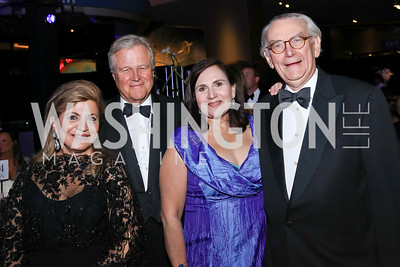 "Annie Totah, Robin West, Sylvia de Leon and Lynn Coleman. Photo by Tony Powell. 2017 Washington Ballet ""We Choose the Moon"" Gala. Air & Space Museum. May 12, 2017"