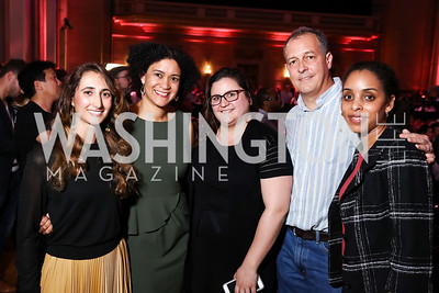 Michelle Moghtader, Elizabeth Lindsey, Cristi Hegranes, Steve Brescia, Kellee James. Photo by Tony Powell. 2017 WeWork Creator Awards. Mellon Auditorium. March 28, 2017