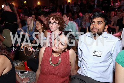 Sonia Sindhi, Neil Choudhary. Photo by Tony Powell. 2017 WeWork Creator Awards. Mellon Auditorium. March 28, 2017
