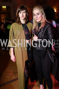 Kate Warren, Maggie Famiglietti. Photo by Tony Powell. 2017 WeWork Creator Awards. Mellon Auditorium. March 28, 2017