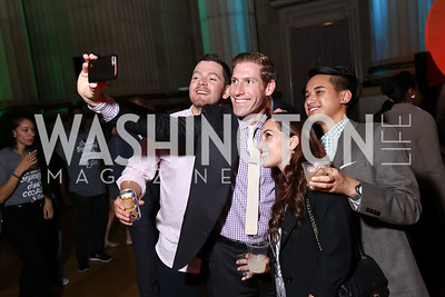 Mike Gaza, Andy Rabens, Anastasia Dellaccio, Andrew Do. Photo by Tony Powell. 2017 WeWork Creator Awards. Mellon Auditorium. March 28, 2017