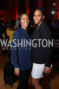 Laura Charity, Maya Braxton. Photo by Tony Powell. 2017 WeWork Creator Awards. Mellon Auditorium. March 28, 2017