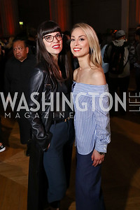 Tara Papanicolas, Violetta Markelou. Photo by Tony Powell. 2017 WeWork Creator Awards. Mellon Auditorium. March 28, 2017