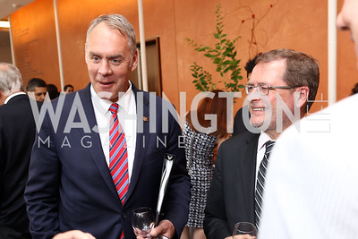 Interior Sec. Ryan Zinke, Grover Norquist. Photo by Tony Powell. 2017 Will on the Hill. Harman Center for the Arts. June 12, 2017