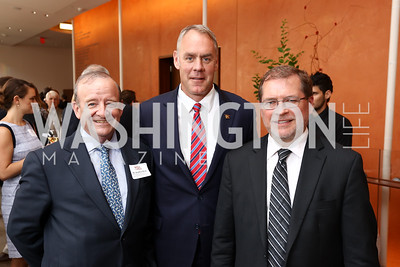 Stephen Ryan, Interior Sec. Ryan Zinke, Grover Norquist. Photo by Tony Powell. 2017 Will on the Hill. Harman Center for the Arts. June 12, 2017
