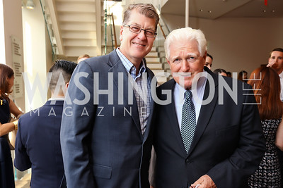 Steve Clemons, Rep. Jim Moran. Photo by Tony Powell. 2017 Will on the Hill. Harman Center for the Arts. June 12, 2017