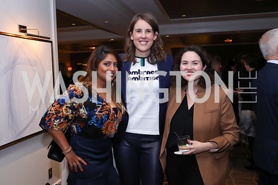 Veena Jetti, Alexis Williams, Mistique Cano. Photo by Tony Powell. 2017 Women Rule Summit Kickoff. Four Seasons. December 4, 2017