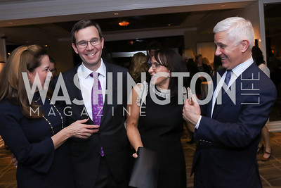 Lee Satterfield, Robert and Elena Allbritton, Patrick Steel. Photo by Tony Powell. 2017 Women Rule Summit Kickoff. Four Seasons. December 4, 2017