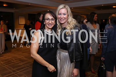 Elena Allbritton, Meredith McPhillips. Photo by Tony Powell. 2017 Women Rule Summit Kickoff. Four Seasons. December 4, 2017