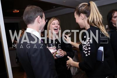 Robert Allbritton, Anna Palmer, Hannah Linkenhoker. Photo by Tony Powell. 2017 Women Rule Summit Kickoff. Four Seasons. December 4, 2017