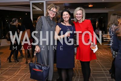 Erin Loos Cutraro, Susannah Wellford, Laura Cox Kaplan. Photo by Tony Powell. 2017 Women Rule Summit Kickoff. Four Seasons. December 4, 2017