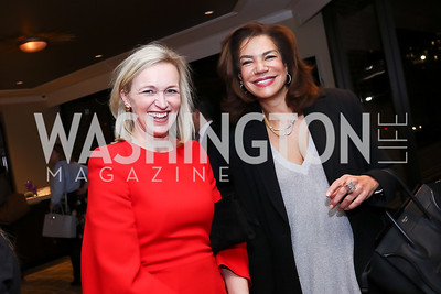 Laura Cox Kaplan, Ann Walker Marchant. Photo by Tony Powell. 2017 Women Rule Summit Kickoff. Four Seasons. December 4, 2017
