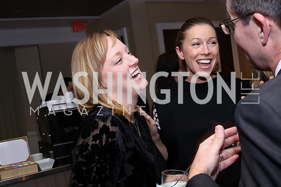 Anna Palmer, Hannah Linkenhoker, Robert Allbritton. Photo by Tony Powell. 2017 Women Rule Summit Kickoff. Four Seasons. December 4, 2017