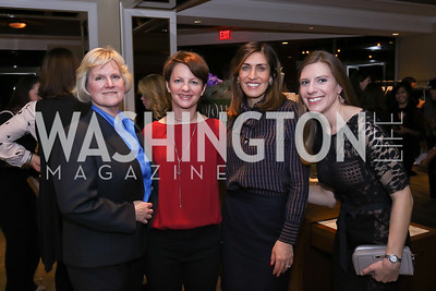 Catherine Sanz, Amanda Ripley, Nina Rees, Natalie Deibel. Photo by Tony Powell. 2017 Women Rule Summit Kickoff. Four Seasons. December 4, 2017