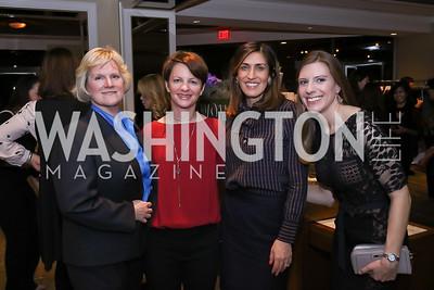 Catherine Sanz, Amanda Ripley, Nina Rees, Natalie Deibel. Photo by Tony Powell. 2017 Women Rule Summit Kickoff. Four Seasons. December 4, 2017
