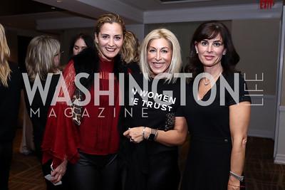 Ami Aronson, Shari Yost Gold, Michelle Freeman. Photo by Tony Powell. 2017 Women Rule Summit Kickoff. Four Seasons. December 4, 2017
