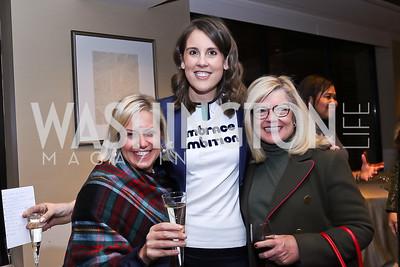 Erin Streeter, Alexis Williams, Gloria Dittus. Photo by Tony Powell. 2017 Women Rule Summit Kickoff. Four Seasons. December 4, 2017