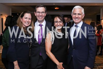 Lee Satterfield, Robert and Elena Allbritton, Patrick Steel. Photo by Tony Powell. 2017 Women Rule Summit Kickoff. Four Seasons. December 4, 2017
