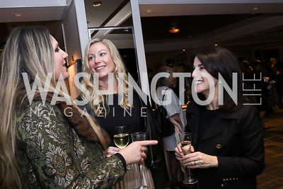 Virginia Coyne, Meredith McPhillips, Tracy Bernstein. Photo by Tony Powell. 2017 Women Rule Summit Kickoff. Four Seasons. December 4, 2017